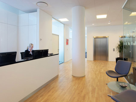 Often you will find us in the lovely office spaces of Ørestad Fairway House in Copenhagen. Image from Regus.com